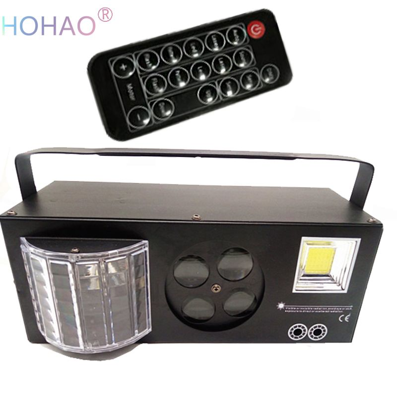 LED 4in1 Embedded Effect Lamp laser butterfly strobe ktv flash private room voice bar stage lighting