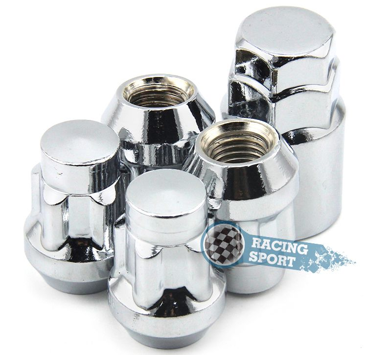 Set Car Anti-theft Nuts 1/2-20 Wheel Lock Nuts Silver Car Alloy Nuts for Dodge,Etype, Jeep New Arrival 4PCS