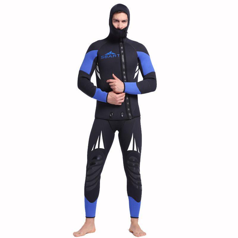 2018 männer Speerfischen Neoprenanzug 5mm Neopren Große größe Badeanzug Dive Brandung Schwimmen Nass Anzug Badebekleidung langarm Strand Tragen Triathlon