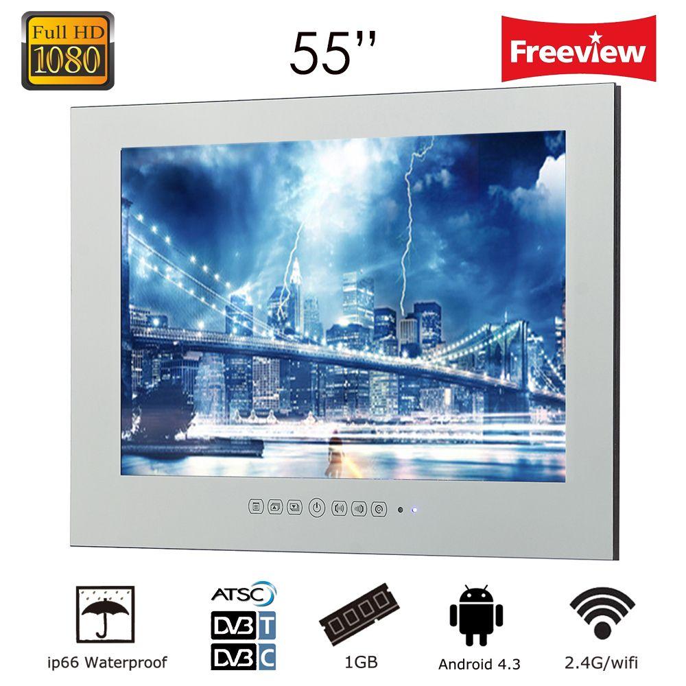 Souria 55 1920x1080 Gig Bildschirm Monitor Smart WiFi Internet LED Wasserdichte LED TV Unterhaltung (ATSC/ DVB-T/DVB-T2/C)