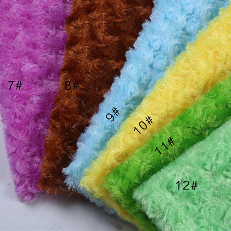 Couleur de sucrerie de luxe matériel en peluche villosités vêtements affichage du compteur tissu fond tissu rose en peluche de fourrure fourrure PV tissu
