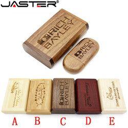 JASTER (более 10 шт бесплатный логотип) Деревянный usb + коробка usb флэш-накопитель Флешка 4 ГБ 8 ГБ 16 ГБ 32 ГБ 64 Гб карта памяти подарки для фотосъемки