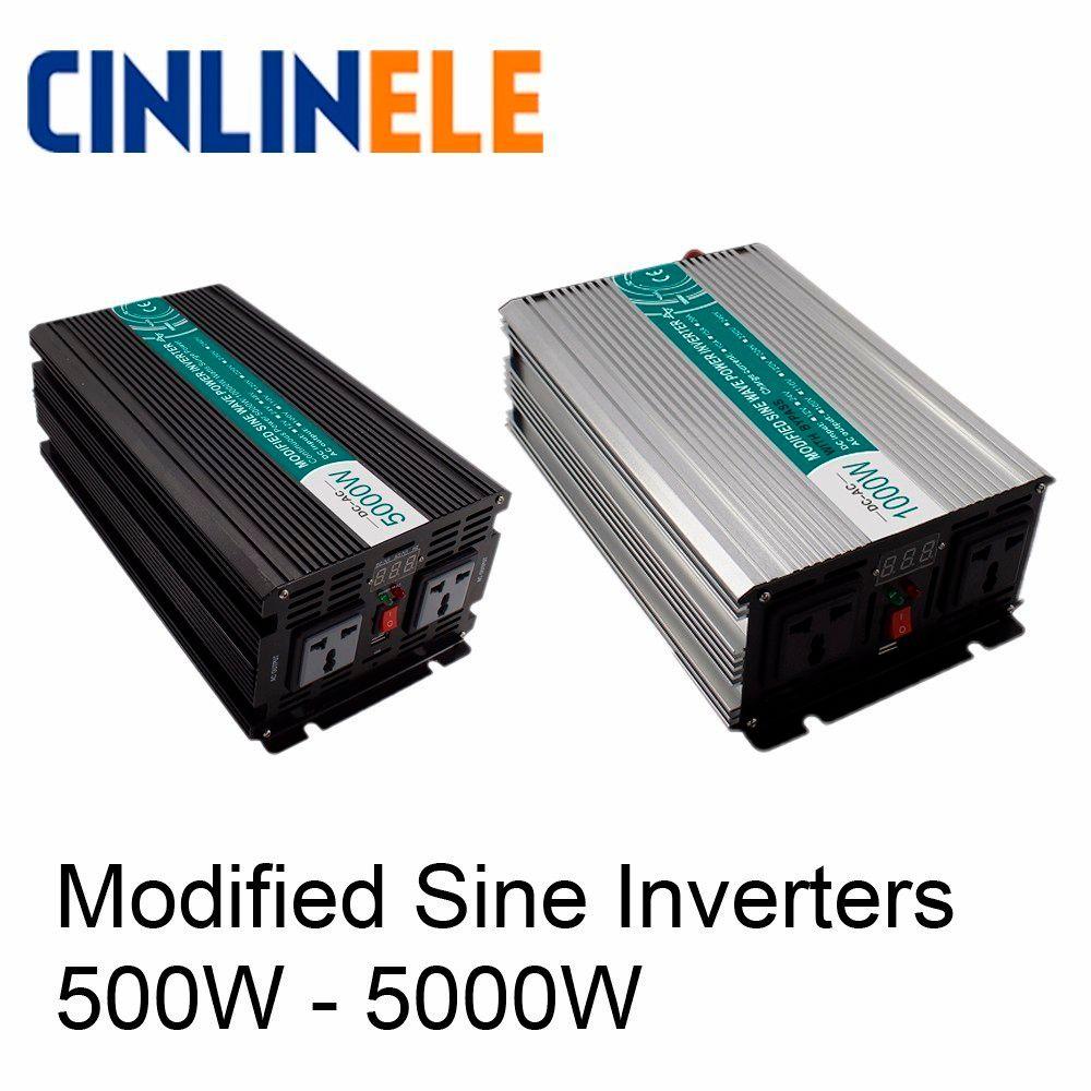 Smart Modified Sine Wave Inverter DC 12V 24V 48V To AC 110V 220V Solar Power 300W 500W 1000W 1500W 2000W 3000W 4000W 5000W