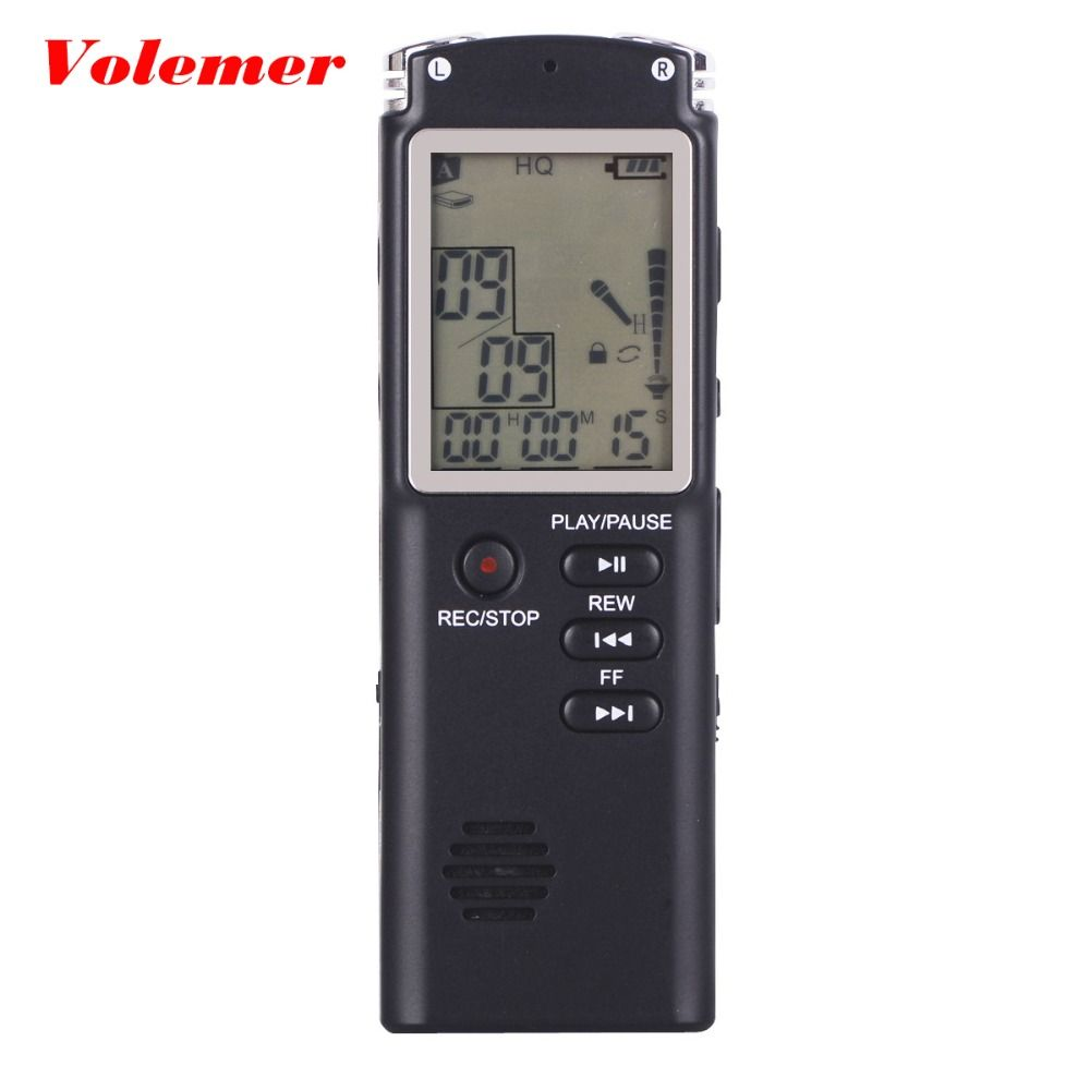 Volemer T60 Hot Audio Voice Recorder 2 in 1 Professional 8GB LCD Time Display Recording MP3 player 96 Hours Dictaphone Recorder