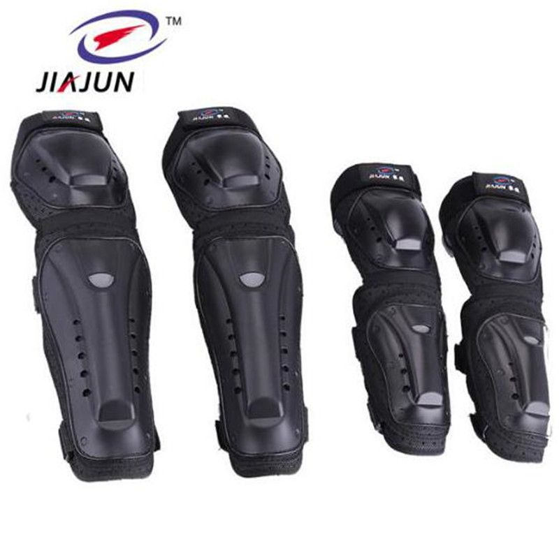 JIAJUN Motorcycle MTB BMX Bike Skating Skateboard Guard Extreme Sport Protective Gear Protector Elbow Pads + Knee Pads Set