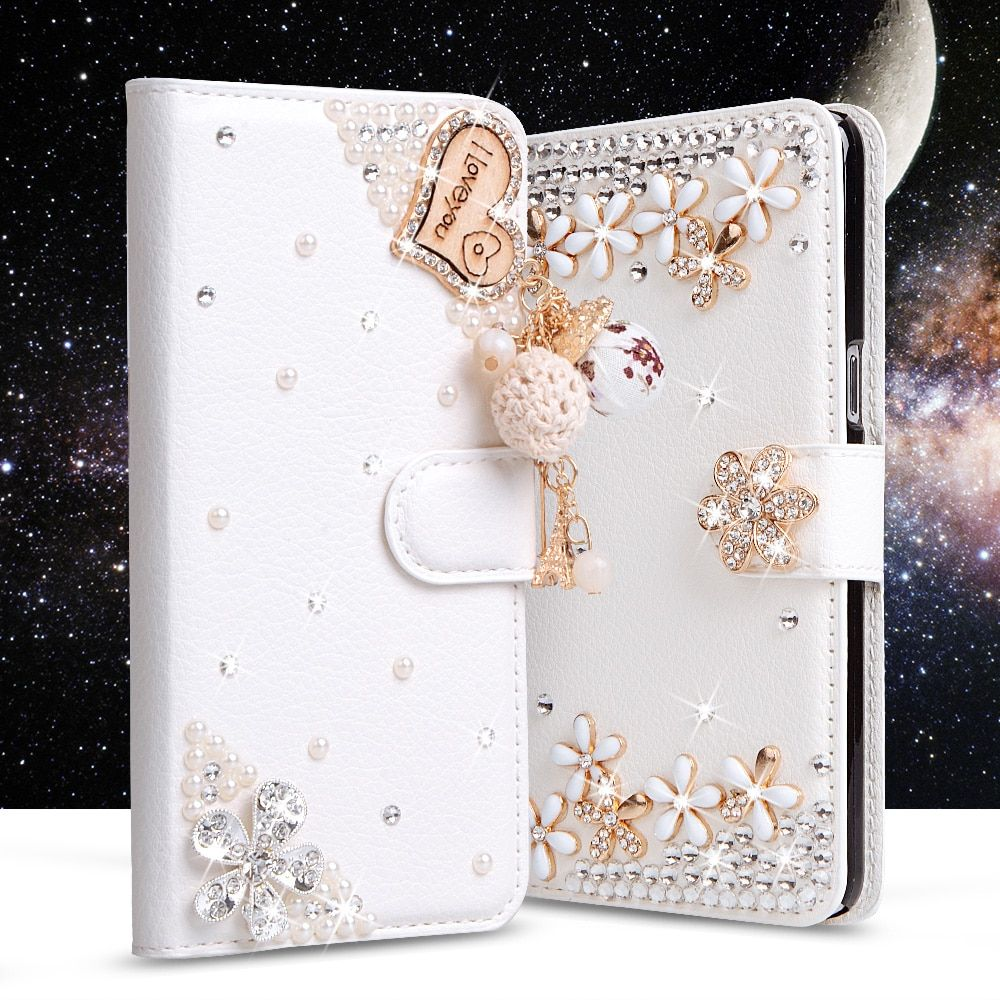 Luxury Rhinestone Cover For Meizu M6 Note Case Filp Wallet PU Leather Cover Card Slot Stand Diamond Phone Bag For M6 Note Case