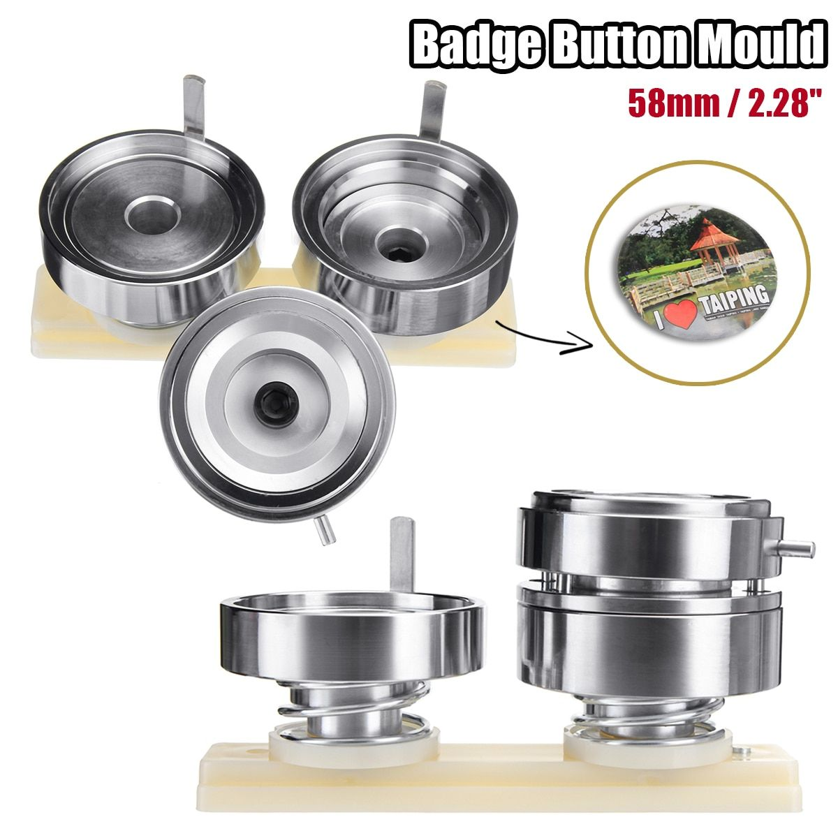 2.28'' 58mm Badge and Button Maker Punch Press Machine Round Die Mould Button