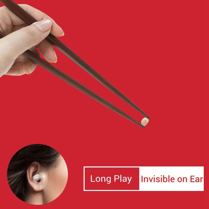 Professionnel Mini Bluetooth Écouteur Sans Fil Stéréo Intra-auriculaires Mains Libres Dans L'oreille Invisible Écouteur Écouteur pour Mobile Téléphone