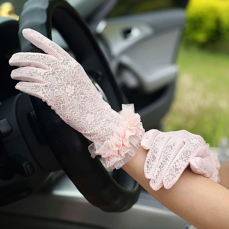 Conduite crème solaire gants dames mince été cyclisme stretch ombre équitation été coton Shorts