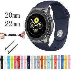 22 Mm 20 Band untuk Samsung Gear Sport S3 S2 Klasik Frontier Galaxy Watch 46 Mm 42 Mm Tali Karet Huami amazfit Bip Huawei GT 2