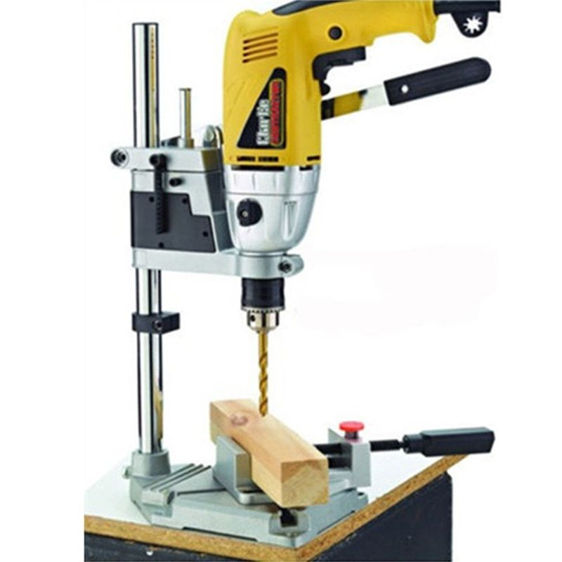 Power Tools Accessories Bench Drill Press <font><b>Stand</b></font> Clamp Base Frame for Electric Drills DIY Tool Press Hand Drill Holder