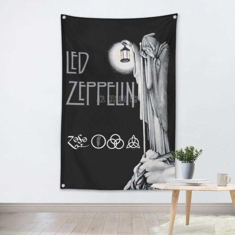 LED ZEPPELIN Metall Musik Rock Band Tuch Flagge Banner Tapisserie Bar Billard Halle Studio Musik Thema Wand Hängende Dekoration