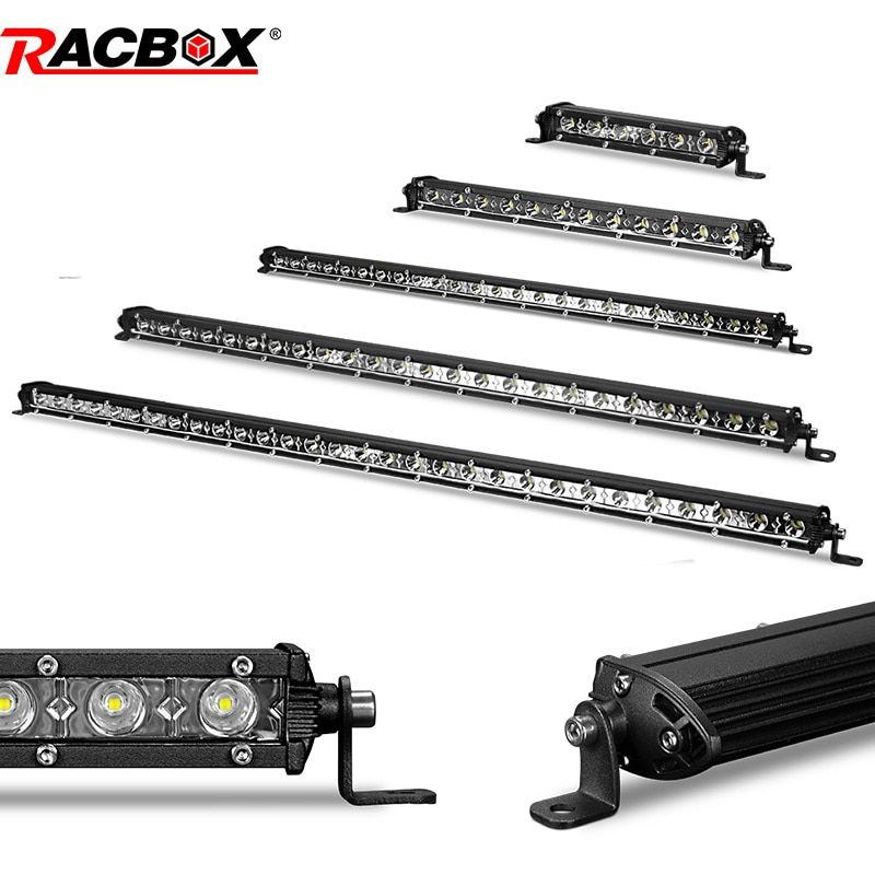 7 13 20 inch Single Row Offroad LED Light Bar 18w 36w 54w LED Work Light Bar Flood Spot Beam Daytime Running Light for ATV SUV