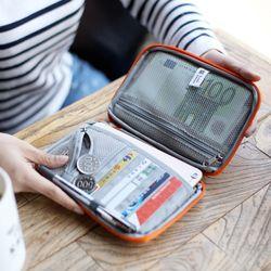 Nuevo impermeable viaje práctico cartera tarjeta de identificación del pasaporte carpeta organizador del monedero tarjeta de crédito titular bolsa de viaje de almacenamiento