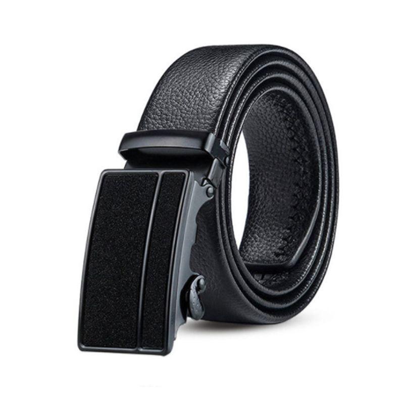 Meilleure vente comme étoiles brillant noir automatique boucle hommes ceinture à double tranchant résistant aux rayures jeunesse ceinture