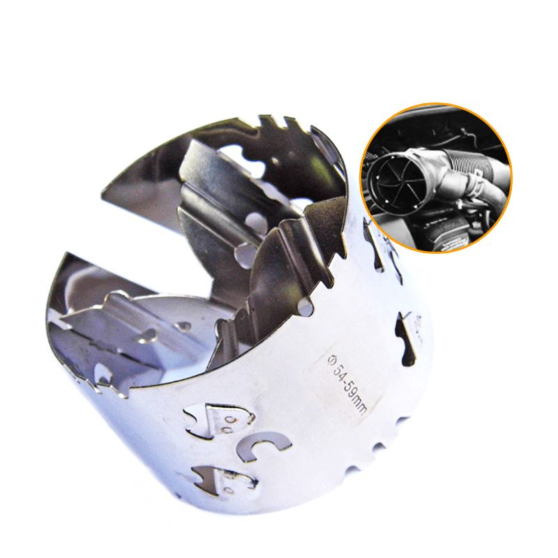 54-59mm Mechanical Turbocharger Fuel Saver Intake Modified Accelerator Car-Styling Fit For 1.6L / 1.8L / 2.0L Displacement