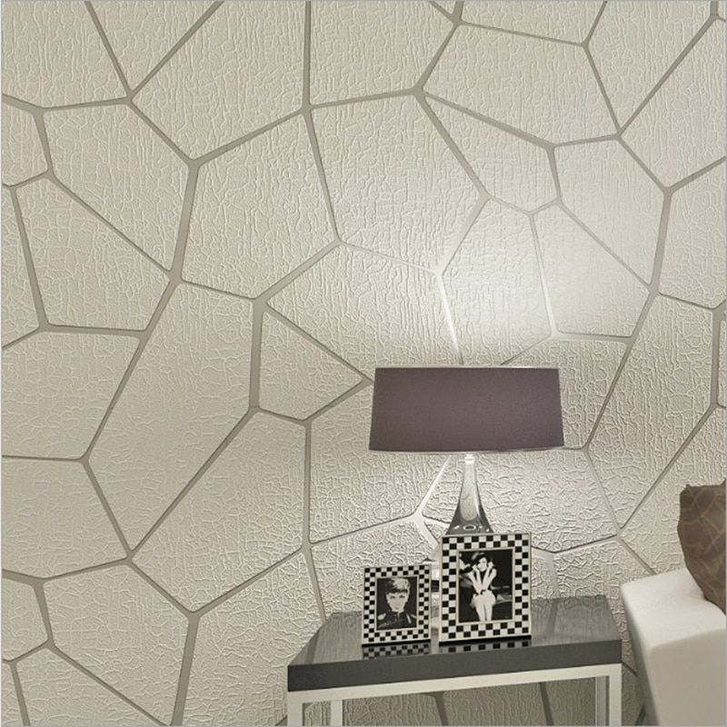 3D Embossed Geometry Wallpaper Modern Simple Non-woven Flocking Wall Paper For Walls Living Room Bedroom Wall Covering Wallpaper