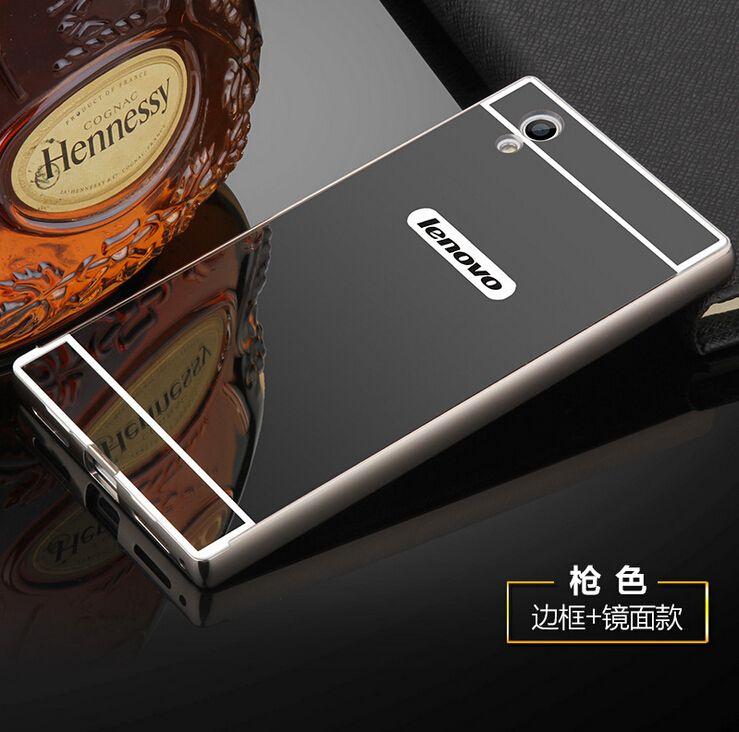 For Lenovo S850 S850T S90 Z90 Case Metal Aluminum Frame+Acrylic Hard Back Cover For Lenovo P70 P70T P2 K3 K4 K6 NOTE Phone case