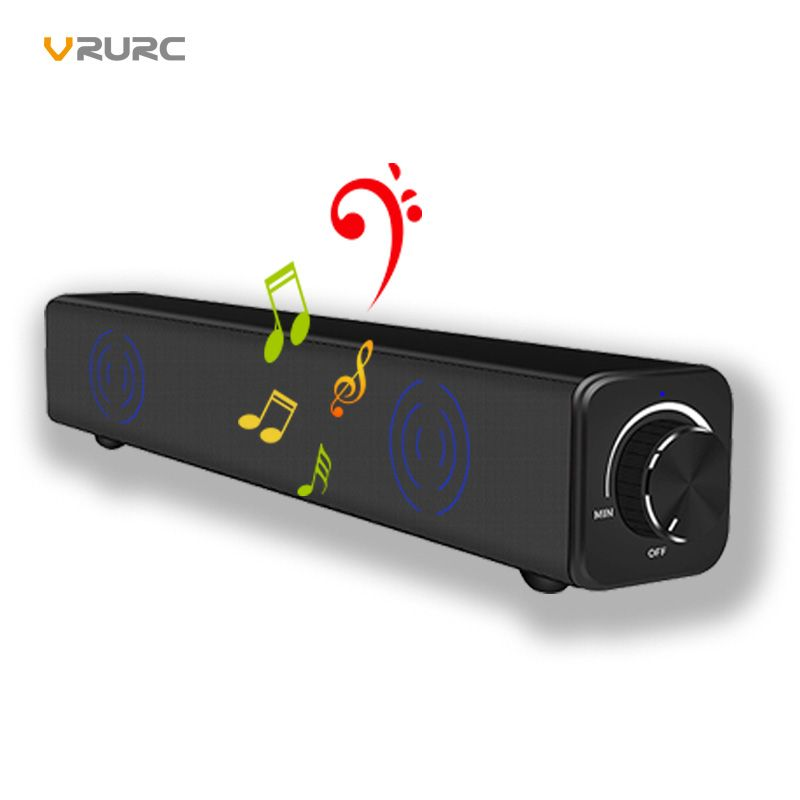 Dual 20W Drivers Speaker 4400mah HIFI Subwoofer Stereo 10W Bluetooth Speaker with BassUp Technology Wireless Soundbar Speaker