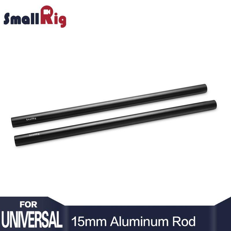 SmallRig 15mm En Aluminium Alliage Tiges 30 cm/12 pouces Longue pour Dslr Caméra 15mm Tiges Système Caméra rail Tige Noir (Pack de 2) -1053