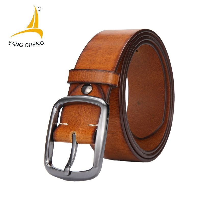 [CNYANGCHENG]Genuine Leather Belt Men Brands Belts Buckle Cummerbund Luxury Belt For Men Designer Belts High Quality Waist Strap