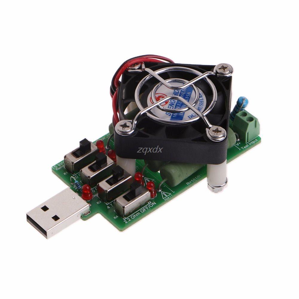 Einstellbare 15 Strom USB Last Widerstand Entladung Widerstand Kapazität Tester Neue 2018 Juli DropShip