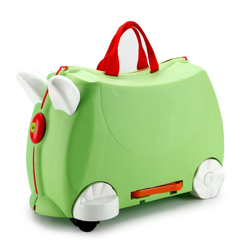 Baby Toy Box Luggage Suitcase Storage Case Pull Rod Boxes Can Sit Ride Furniture Toy