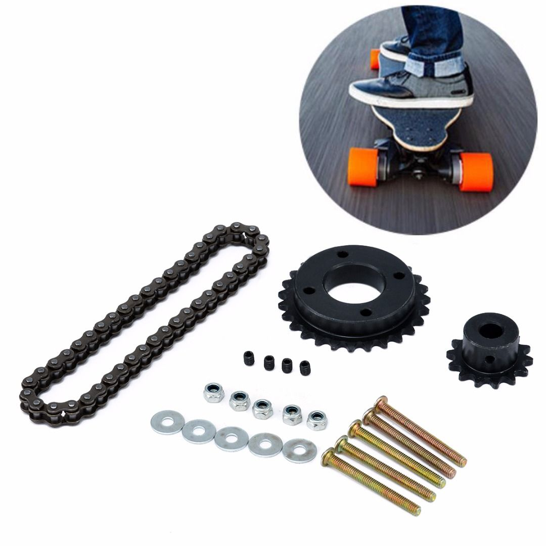 New Electric Skateboard Replace Part Sprocket Chain Wheel DIY Set for DIY Electric Longboard Skateboard Accessories