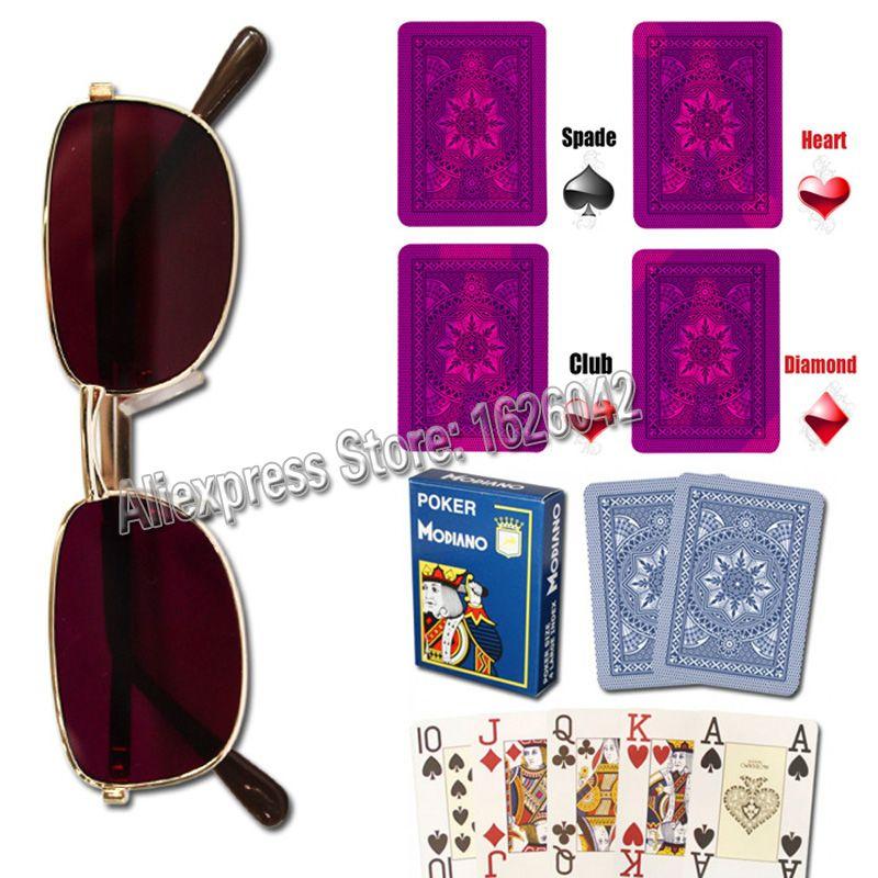 Magique Poker XF 003 Perspective lunettes Poker tricher marqué cartes Anti-pari tricher Perspective cartes à jouer cartes magiques