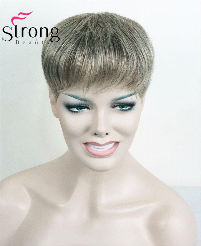 Strongbeauty парик женщин синтетические волосы короткие toupe наращивание волос волосы кусок выбор цвета