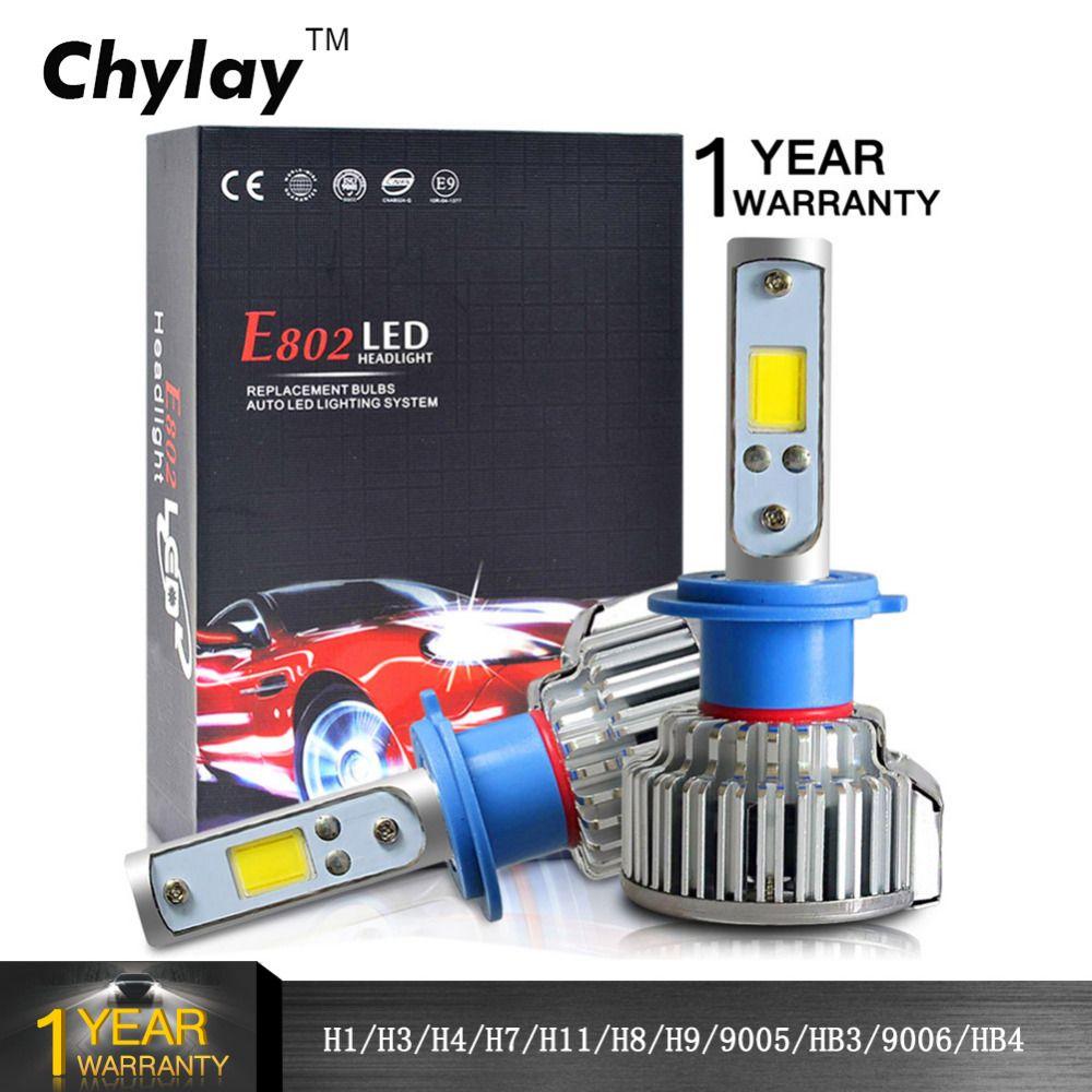 2 pièces H1 LED H4 H7 H3 H11 H8 HB4 HB3 9005 9006 Voiture Phares Ampoules 50 W 8000LM Avant Automatique Ampoule Automobiles Phare Voiture Lumière