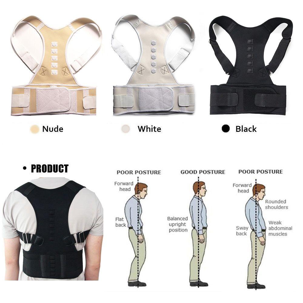 Aptoco thérapie magnétique Posture correcteur orthèse épaule dos soutien ceinture pour hommes femmes bretelles et Supports ceinture épaule Posture