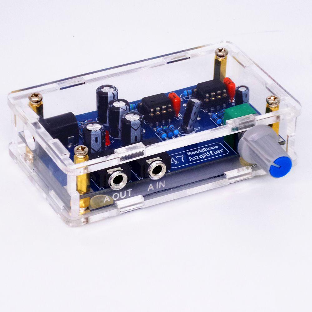 TIANCOOLKEI 47k Single Power Supply Portable HIFI Headphone Amplifier PCB AMP DIY Kit for DA47 Earphone Accessories