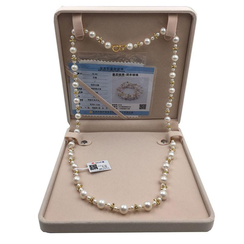 Sinya Perle Pullover kette halskette Runde Natürliche perlen stränge lange halskette für Frauen Mädchen Mama liebhaber länge 85 cm durchmesser 10-11mm