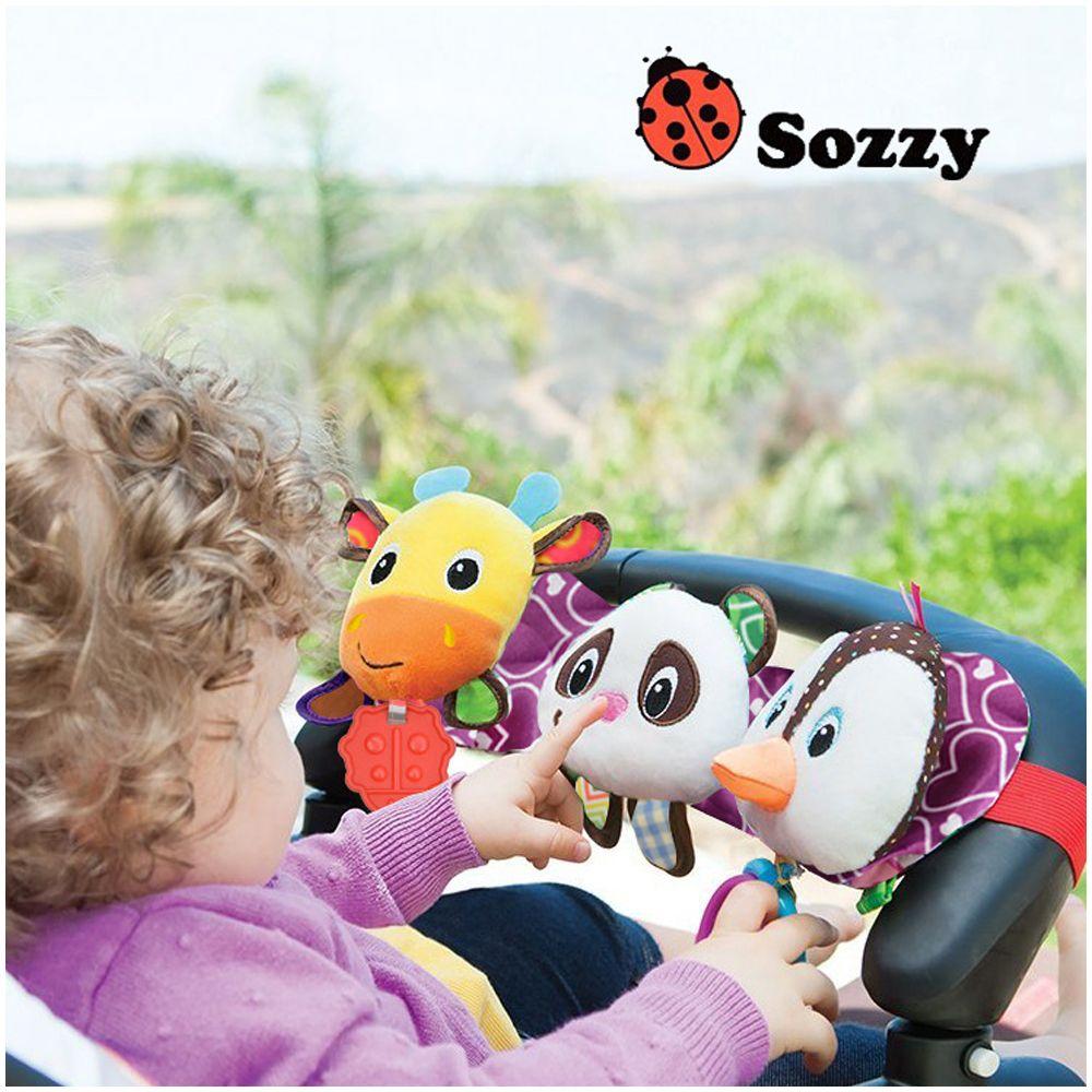 Sozzy Juguetes Musicales Bebé Cochecito Cama Colgante Cuna Cuna Móvil Panda suave del Pingüino de Peluche de Juguete Mordedor Sonajero Ciervos Para Recién Nacido bebés