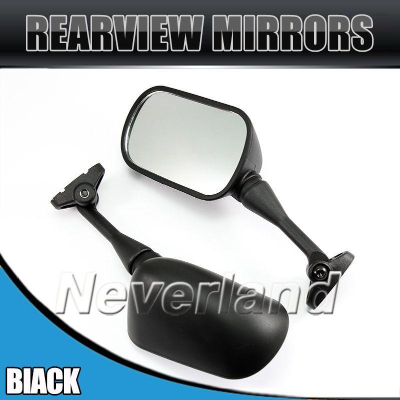2pcs Side Rear View Mirrors For Honda CBR 600 F4 F4i 1999-2005 RC51 RVT 1000R 2000-2005 Black Carbon Fiber Motorcycle D10