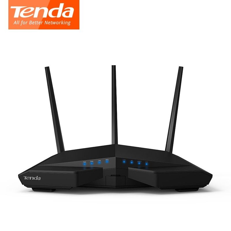 Tenda AC18 Wireless wifi Router 256M DDR Dual-Core CPU 1WAN+4LAN Gigabit ports WiFi Repeater Dual Band 11AC1900M Gigabit USB 3.0
