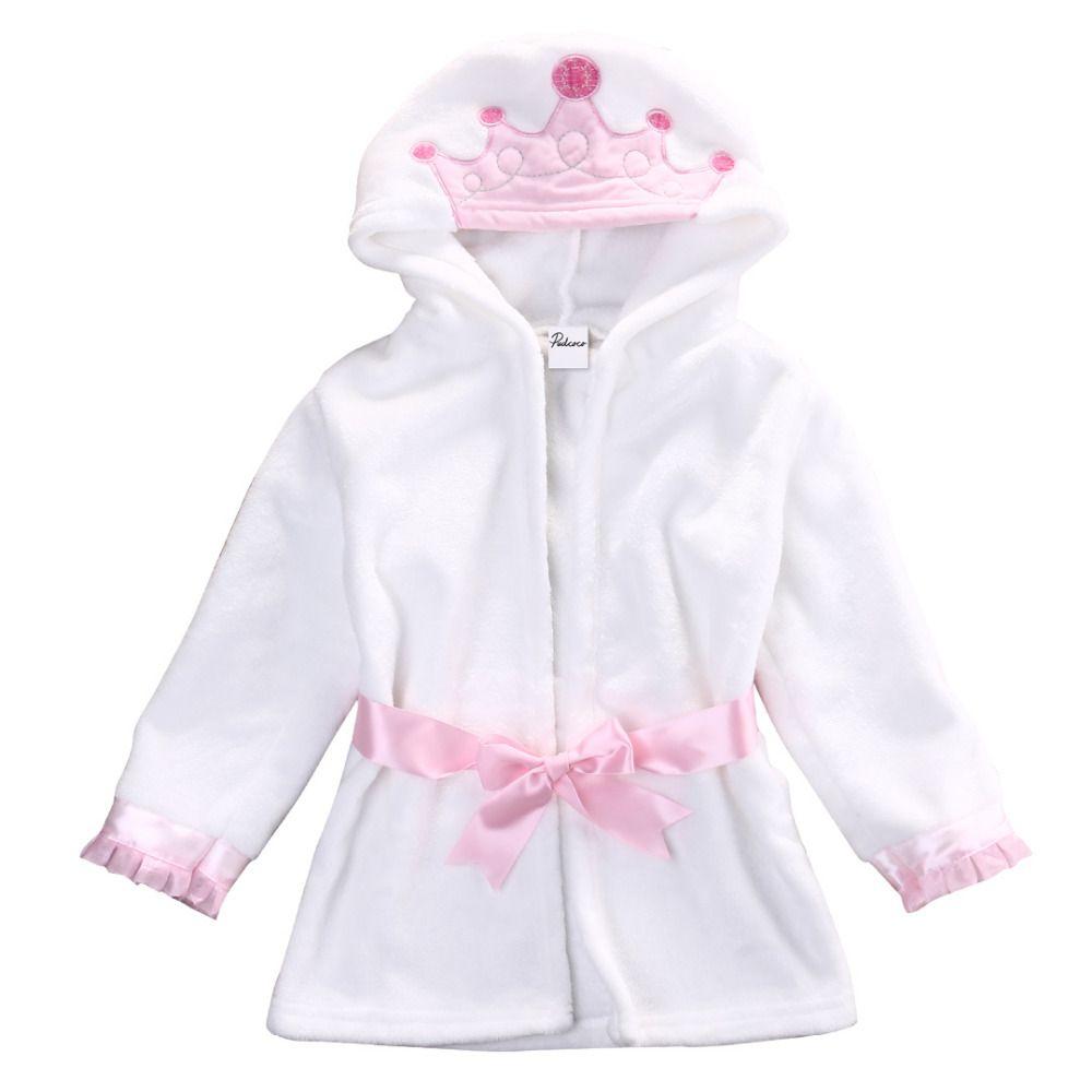 2016 Hiver Chaud Mignon Infantile Bébé Fille Garçon À Capuchon Serviette De Bain Wrap Peignoir de Bain Couverture Jette Robes