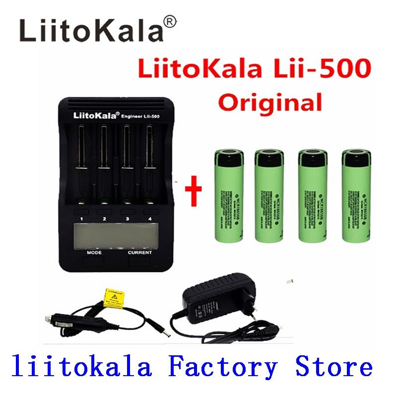 Liitokala lii-500 Lii-PD4 lii-PL4 Lii-S1 LCD 3.7 V/1.2 V 18500/26650/16340/14500/10440/18650 Batterie Chargeur 18650 3400 mah batterie