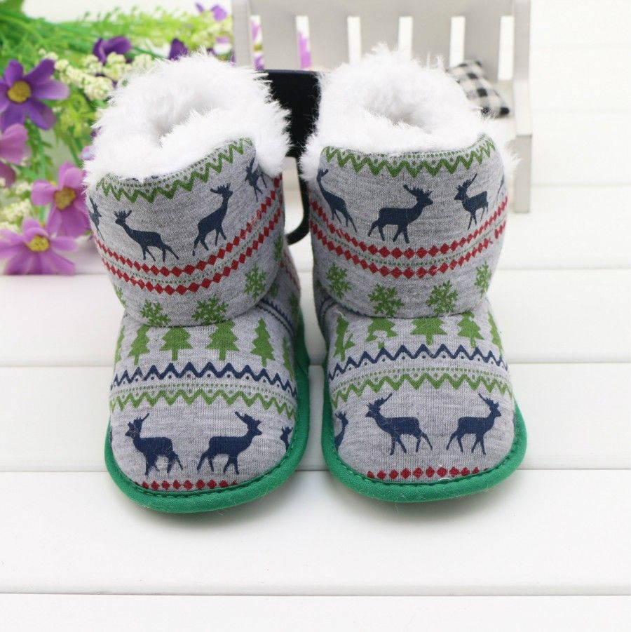 New Arrival Winter Fashion Deer Totem Baby Snow Boots Boy's & Girl's Warm Plush Toddler Shoes Comfort Kids Boots Better Quality