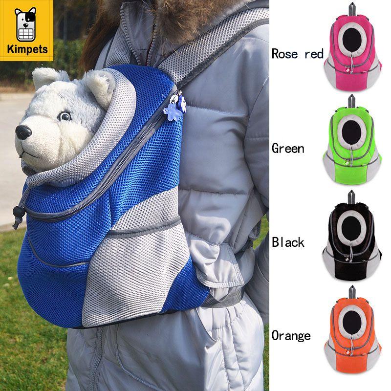 New Pet Backpack Dog Bags Dog <font><b>Carrier</b></font> Pet Dog Front Bag Puppy Dog Portable Travel Bag Mesh Backpack Head out Double Shoulder Bag