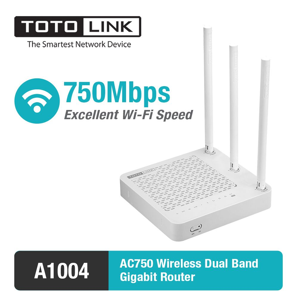 TOTOLINK A1004 11AC 750Mbps Dual Band wireless Gigabit Router Supports VPN Server/Repeater