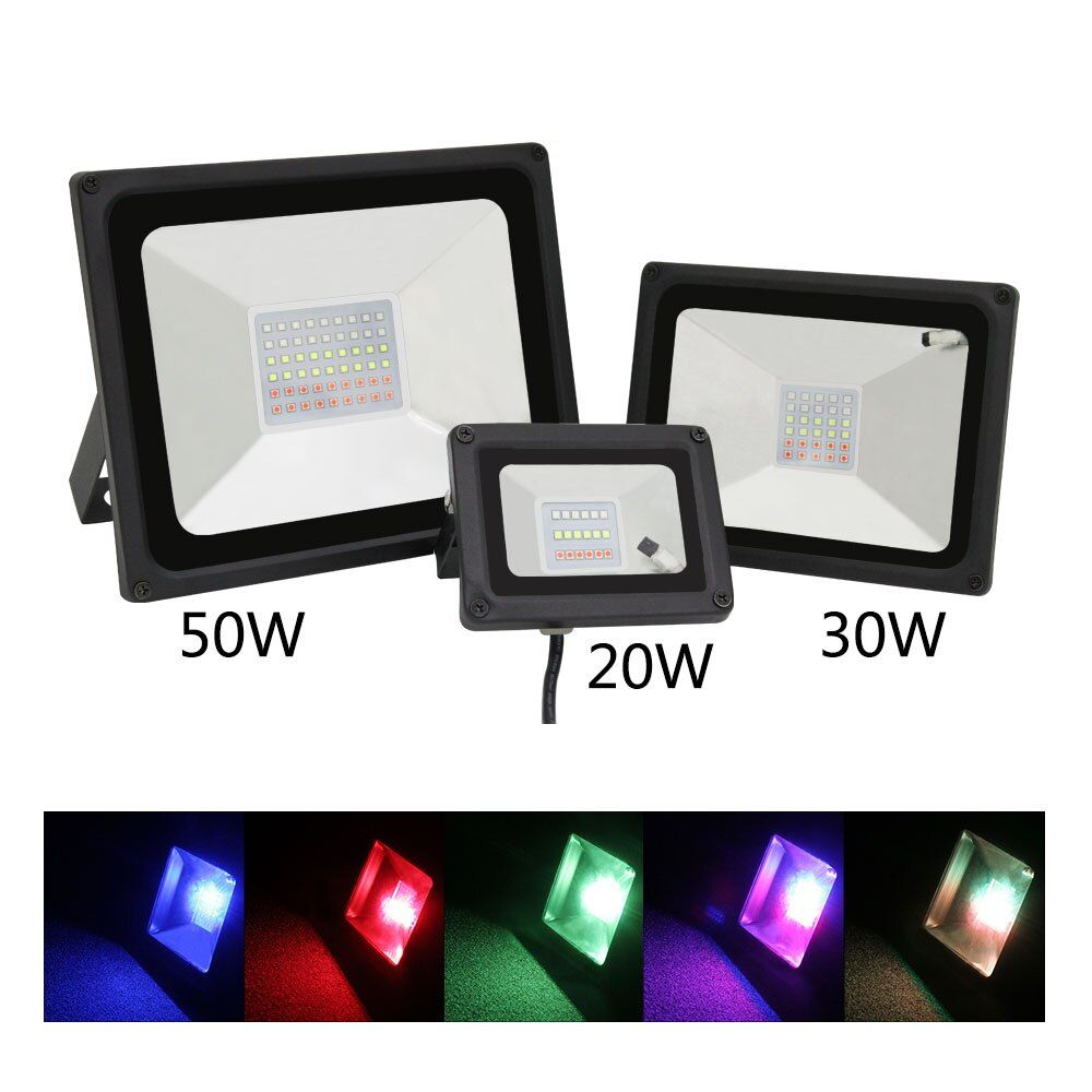 NEUE outdoor RGB ha condotto la luce di inondazione 20 Watt 30 W 50 Watt applique da parete ad alta potenza luci del Giardino