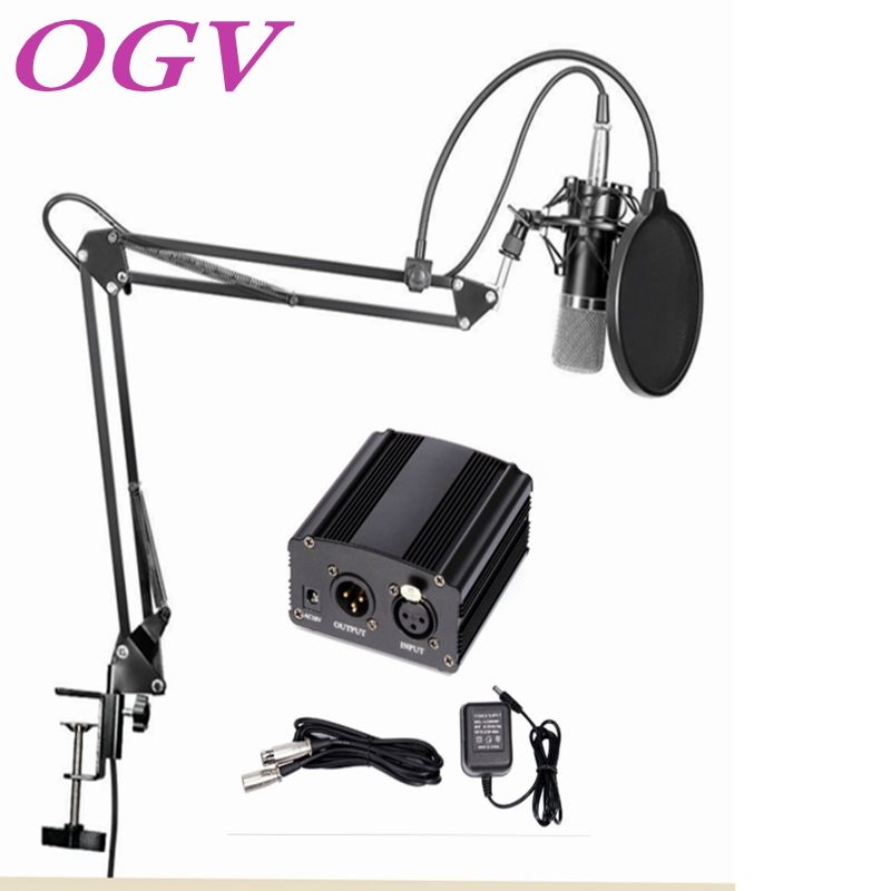 Professional audio equipment condenser microphone song recording network podcast K song 48V phantom power audio cable adapter