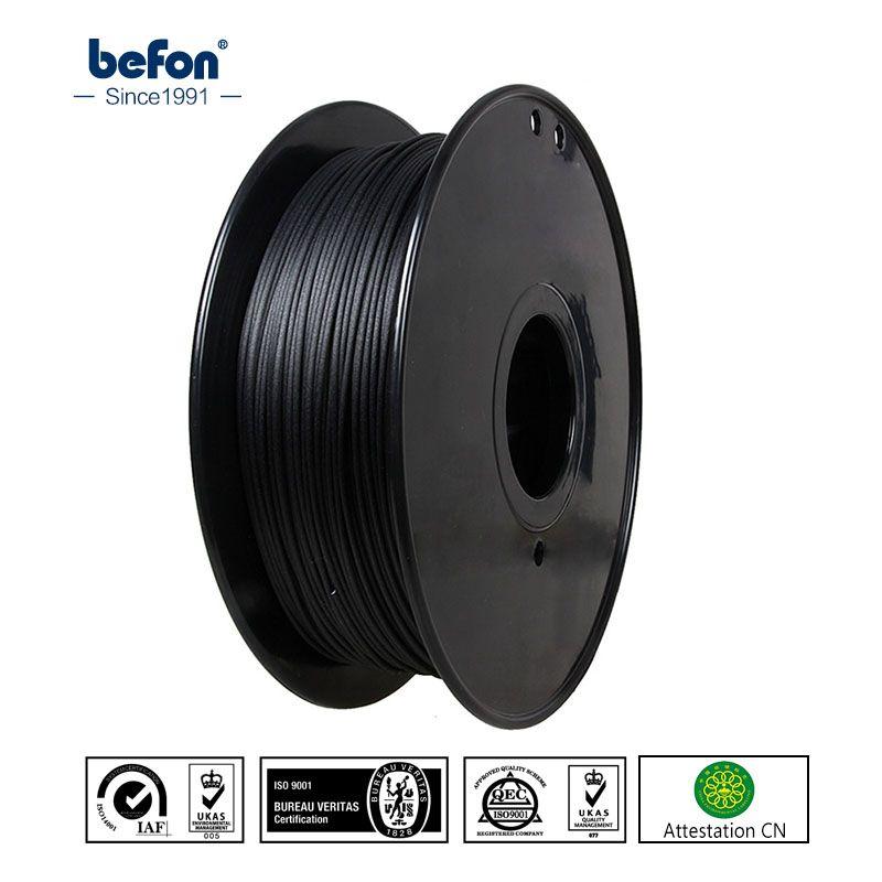 Befon Carbon Fiber PLA Filament Strong 3D Printer Filament 1.75mm 3D Printing Material for MakerBot RepRap Ultimaker Printer