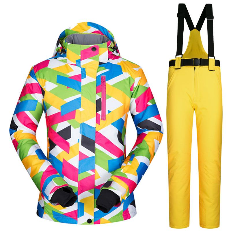 Brands Ski Suit Women High Quality Female Windproof <font><b>Waterproof</b></font> Winter Sets Snow Jacket And Pants Skiing And Snowboarding Suits