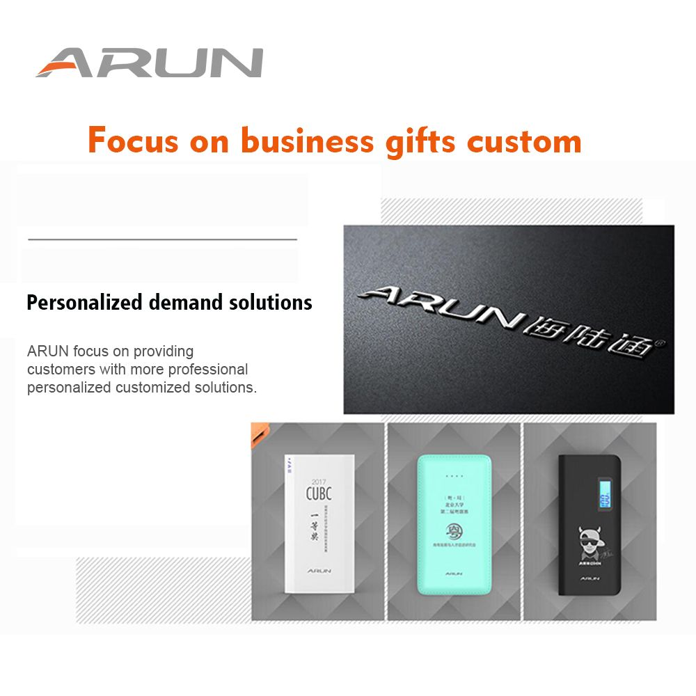 ARUN free printing service of power bank private custom service of charger for phone vivvo xiaomi brand