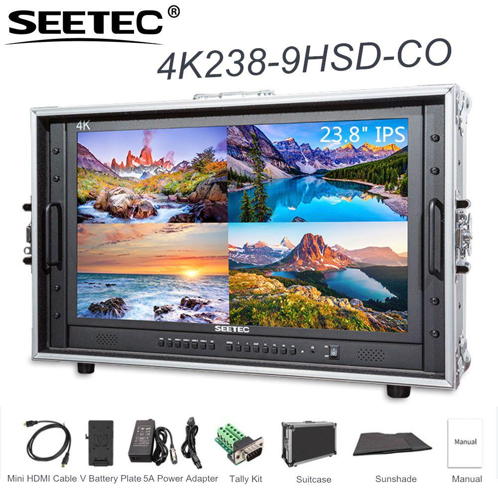 SEETEC 4K238-9HSD-CO 23,8 4K 3840x2160 Ultra-HD Auflösung Tragen-auf Broadcast-Monitor mit Koffer für, Der Film Video Bereich