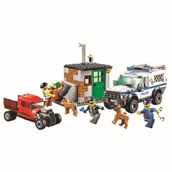 BELA City Police Dog Unit Building Blocks Classic For Girl Boy Kids Model Toys  Marvel Compatible Legoe