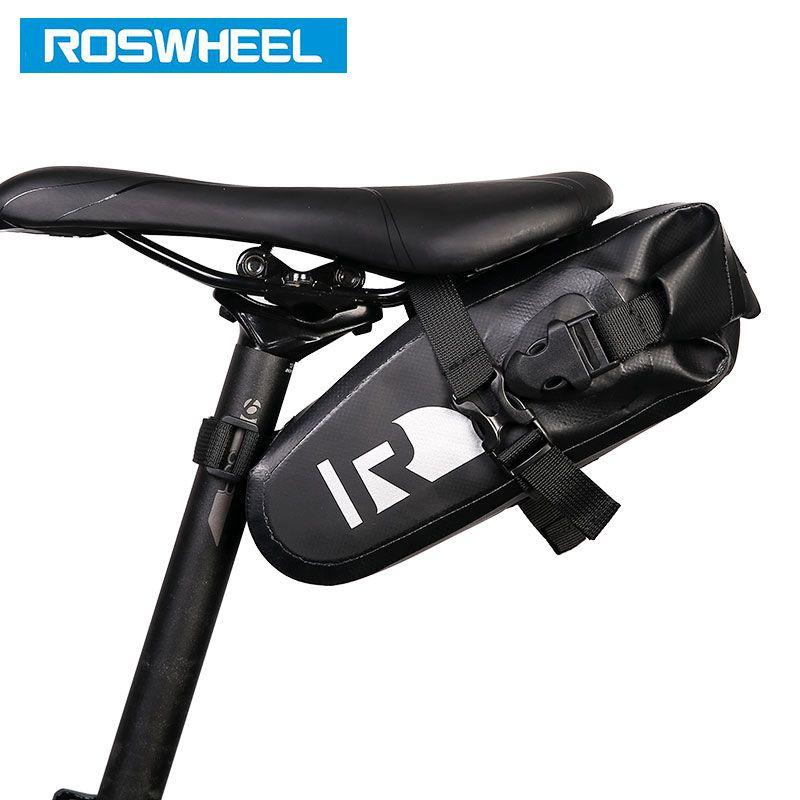 ROSWHEEL Attaque #131363 Vélo Tige de Selle Sac De Selle de Bicyclette Siège De Stockage Sacoche Vélo VTT Vélo De Route Arrière Pack étanche à L'eau